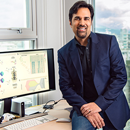 Dr. Shah is being highlighted in this month's Research in Focus